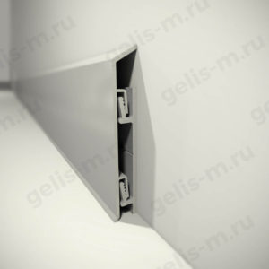 Алюминиевый плинтус на клипсах