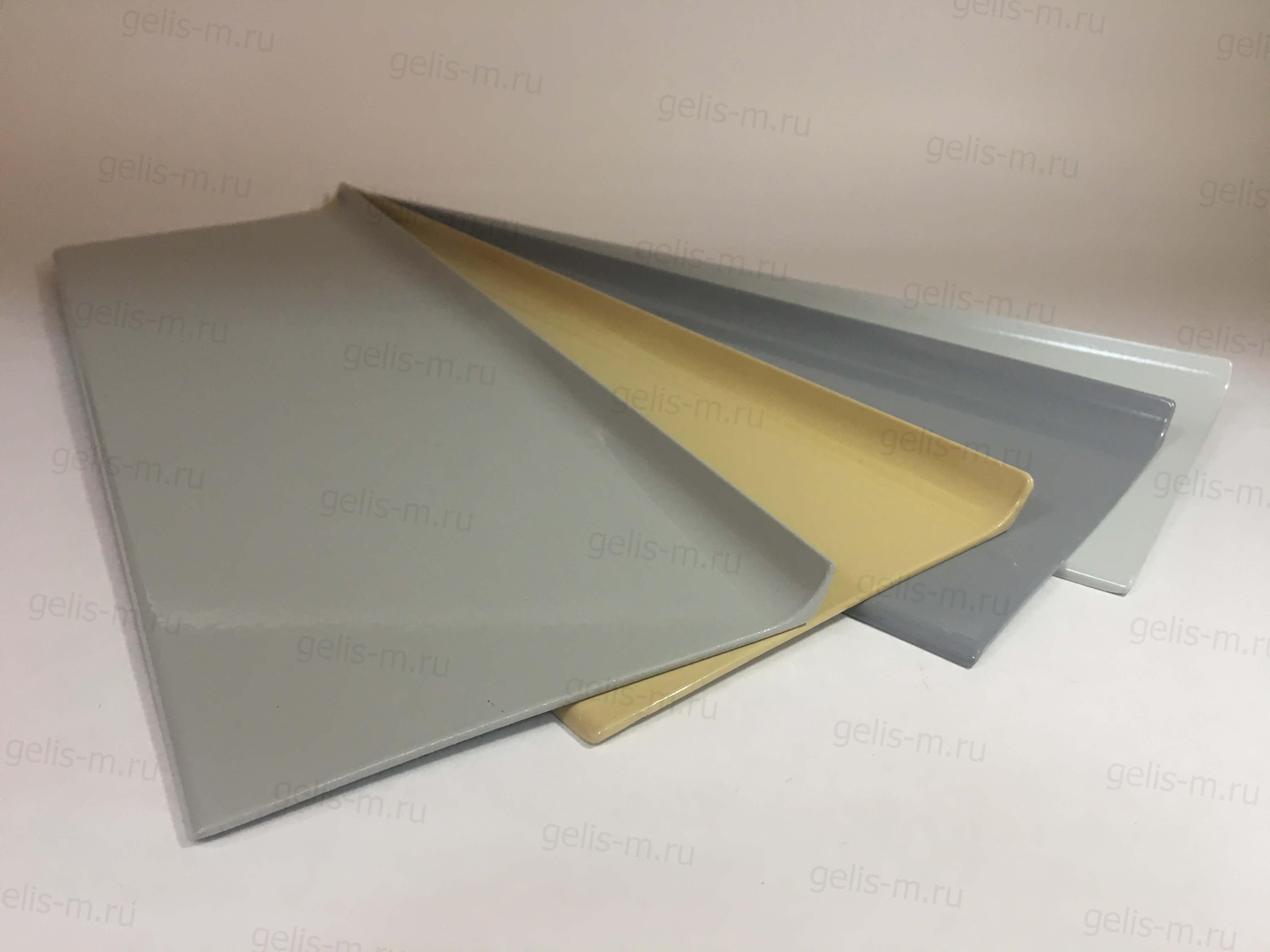 пример покраски алюминиевого плинтуса