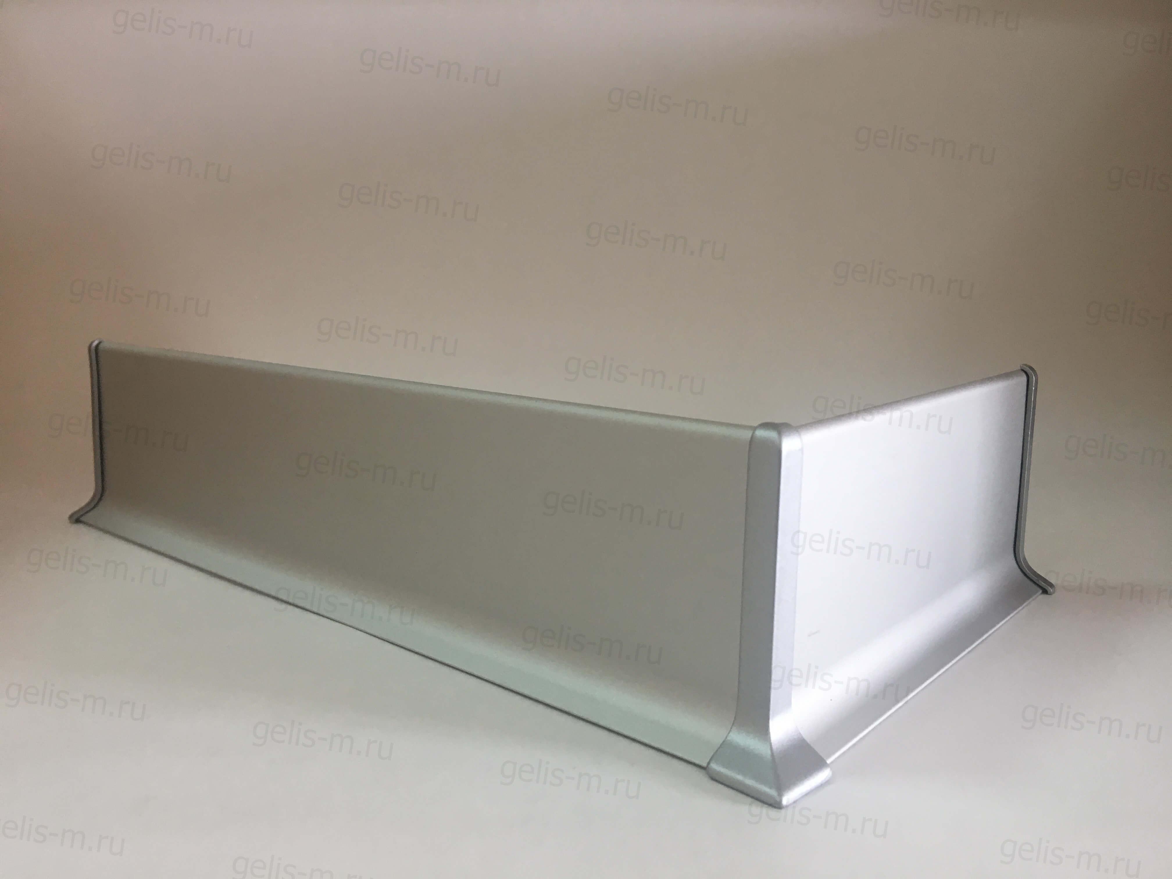плоский алюминиевый плинтус с алюминиевыми углами