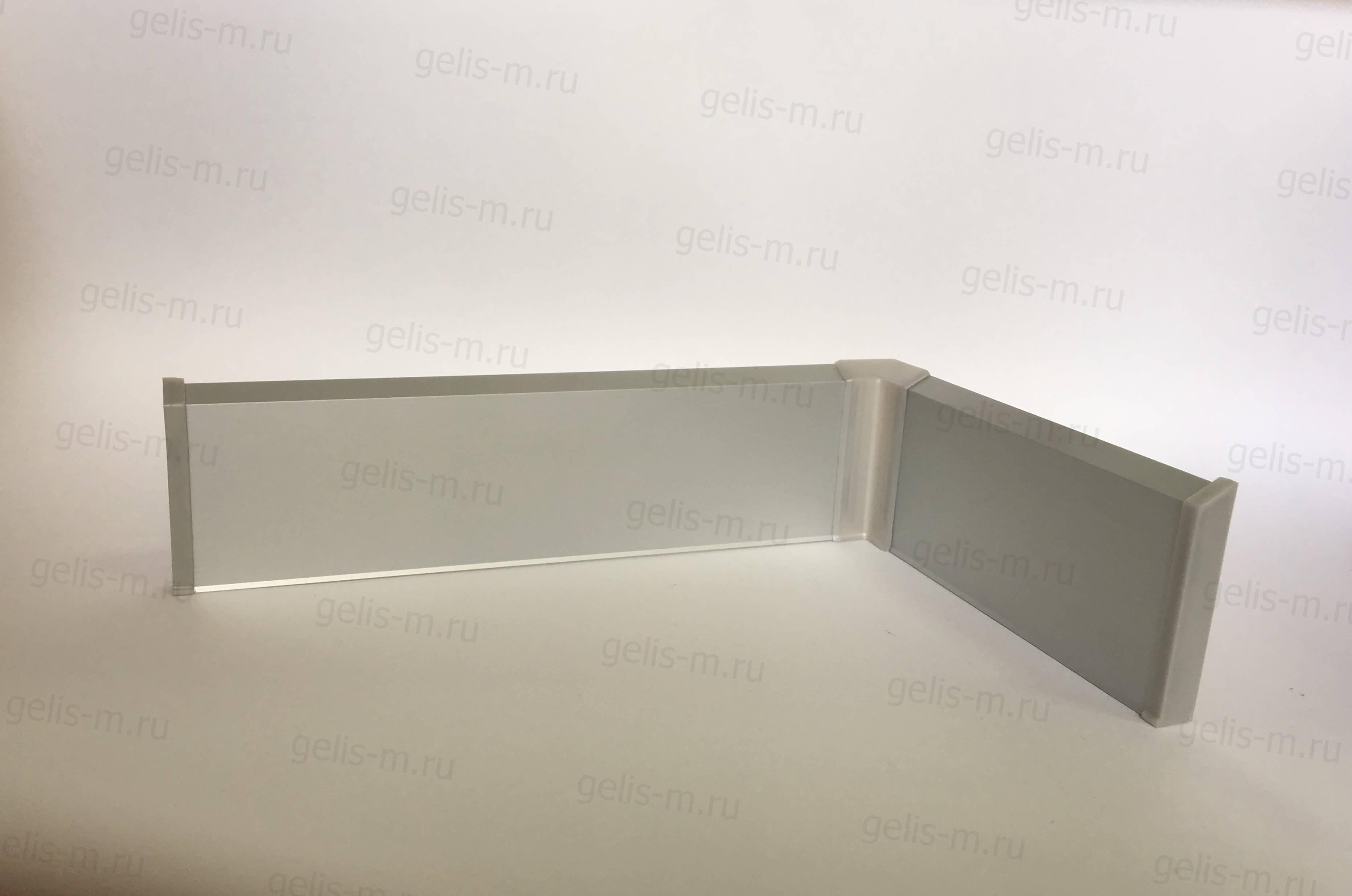 Алюминиевый плинтус с кабель-каналом на клипсах